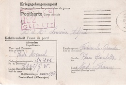 Correspondance De Prisonniers De Guerre Stalag  398 (XVII B) Krems Apres Ferrier-la-Grande (Nord) - Poststempel (Briefe)