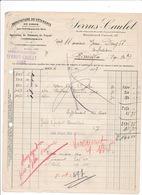 Facture 1937 Vêtements Serrus-Caulet, 117 Boulevard Carnot, Agen - Textile & Vestimentaire