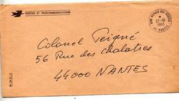 Lettre Franchise Nantes Direction Region - Marcophilie (Lettres)