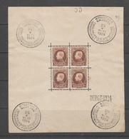 COB Bloc 1 Oblitéré Cote 320 € Voir Description - Blocks & Sheetlets 1924-1960