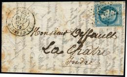 Lettre VILLE DE FLORENCE. LSM. CàD R. Serpente 23 Sept 70 Pour La Châtre. Arrivée Le 23 Oct 70. T.B. - Stamps