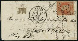 Lettre L'Armand BARBES, Pli Au Départ De Paris 3/10/70, étoile 8 Pour Amsterdam Pays Bas, Affranchi à 40c, Cachet De Tra - Stamps