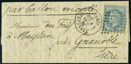 Lettre L'ARMAND BARBES, L.M.M. Avec Càd Paris Les Ternes 4 Oct 70 Pour Meylan Près Grenoble - Arrivée à Grenoble Le 15 O - Stamps