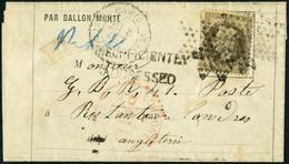 Lettre LE WASHINGTON Ou LE LOUIS-BLANC, LMI Avec TP N°30, Càd Du 8 Oct 70 Pour Londres. Cachets En Rouge London Paid - C - Stamps