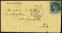 Lettre LE GENERAL DAUMESNIL, L.M.I. Càd Paris Les Ternes 20 Janv 71 Pour Meylan Près Grenoble - Arrivée à Grenoble Le 23 - Stamps