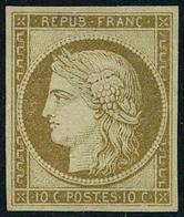 Neuf Sans Gomme N° 1, 10c Bistre T.B. Signé Brun - Non Classés