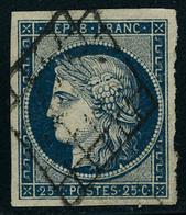 Oblitéré N° 3, 3a, 4 Et 4a, 2 Nuances Différentes Du 20c Et 25c Cérès, T.B. - Postzegels