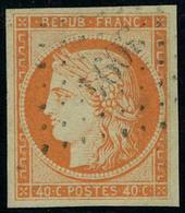 Oblitéré N° 5, 40c Orange Grandes Marges Superbe, Signé Calves - Francobolli