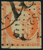 Oblitéré N° 5, 40c Orange Obl D52 + Obl Américaine T.B. Signé Brun - Francobolli