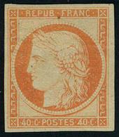 Neuf Avec Charnière N° 5A, 40c Orange Gomme Brunâtre T.B. Signé Calves - Stamps