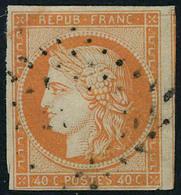 Oblitéré N° 5a, 40c Orange Vif Obl Légère, TB Signé JF Brun - Stamps