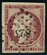 Oblitéré N° 6, 1f Carmin Foncé Obl PC Superbe - Stamps