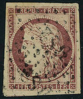 Oblitéré N° 6, 1f Carmin, Grandes Marges Superbe, Signé Miro Roig - Stamps