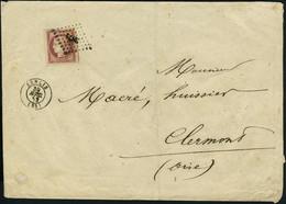 Lettre N° 6, 1f Carmin Foncé Cdf Sur L Obl 2874 Senlis 30 Avril 53 Pour Clermont Oise, Timbre De Qualité Extraordinaire  - Stamps