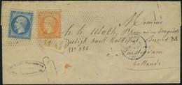 Lettre N° 22 + 24, 20c + 40c Obl Roulette De Pointillés Sur L Paris 5 Août 65 Pour Amsterdam, Arrivée Au Verso 6/8/65, T - Stamps