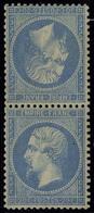Neuf Avec Charnière N° 22b, 20c + 20c Bleu, Paire Tête Bêche, Excellent Centrage, T.B. Signé Calves, Marquelet ... - Stamps