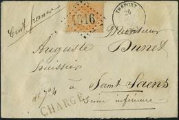 Lettre N° 23, 40c Orange Sur L Chargée 26 Mai 68 Le Tréport Pour St-Saens, T.B. - Stamps