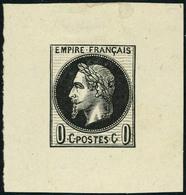 Neuf Sans Gomme Essai Au Type Empire Lauré 0c Noir, Superbe - Stamps