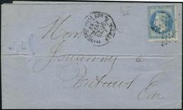 Lettre N° 29A, 20c Bleu Emipe Lauré, Variété R Et E De Empire Reliés, Sur L. Oblitéré Etoile + Càd Paris 25 Février 68 P - Stamps