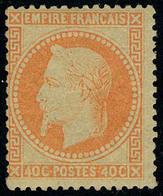Neuf Avec Charnière N° 31b, 40c Orange Vif T.B. Signé Brun - Stamps