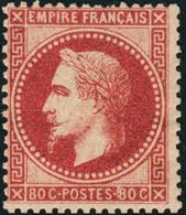 Neuf Avec Charnière N°32a. 80c Rose Carminé, Jolie Nuance. Forte Charnière. T.B. Signé Calves - Stamps