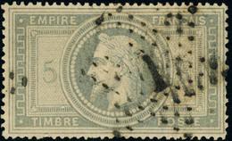 Oblitéré N° 33. 5f Violet-gris, T.B. Signé JF Brun. - Stamps