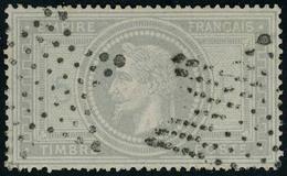 Oblitéré N° 33, 5f Violet Gris, Obl. étoile, T.B. Signé JF Brun - Stamps