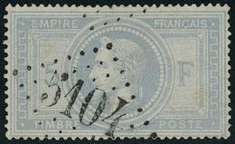 Oblitéré N° 33, 5f Violet Gris, Obl 5104 Shanghai T.B. Signé Calves - Stamps
