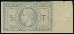 Neuf Avec Charnière N° 33c, 5F Violet-gris Non-dentelé Bdf, Cl, Superbe Et Rare, Signé + Certificat Brun - Stamps