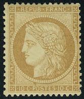Neuf Avec Charnière N° 36, 10c Bistre, Cl, Bon Centrage T.B. Signé Calves - Stamps
