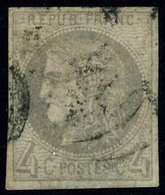 Oblitéré N° 41B, 4c Gris, Report 2, T.B. - Stamps