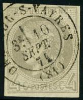 Oblitéré N° 41B, 4c Gris Report 2, Obl Càd, TB - Stamps