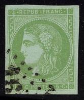 Oblitéré N° 42B, 5c Vert Jaune Report 2 T.B. Signé Calves - Stamps
