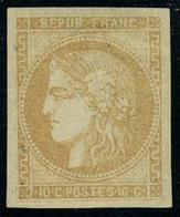 Neuf Avec Charnière N° 43A, 10c Bistre, Report 1 T.B. Signé A Brun - Stamps