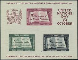 Neuf Sans Charnière N° 1, Le Bloc Du 10è Anniversaire T.B. - Stamps