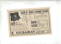 Publicite Album Soubairan - Timbres