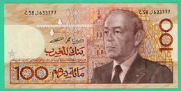 100 Dirhams - Maroc - N° E58 J633777 - - Marruecos