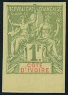 Neuf Sans Gomme N° 13a, 1f Vert Olive ND Bdf, Superbe - Stamps
