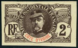 Neuf Sans Gomme N° 22a, 2c Faidherbe Non-dentelé, TB, Signé A.Brun - Stamps