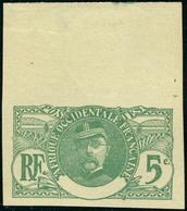 Neuf Sans Gomme N° 24a, 5c Faidherbe Non-dentelé, Sans La Légende, Bdf, TB - Stamps