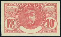 Neuf Sans Gomme N° 25a, 10c Faidherbe Non-dentelé, Sans La Légende, TB - Stamps