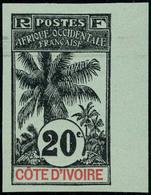 Neuf Sans Gomme N° 26a, 20c Palmiers Non-dentelé, Bdf, TB, Signé A.Brun - Stamps