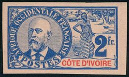 Neuf Sans Gomme N° 34a, 2f Ballay Non-dentelé, TB, Signé A.Brun - Stamps