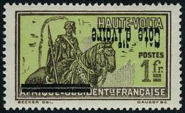 Neuf Sans Charnière N° 100m, 1f Haute Volta, Surcharge Renversée, TB - Stamps