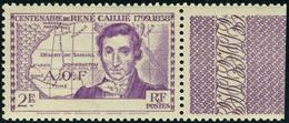 Neuf Sans Charnière N° 142a, 2f Violet, Caillé Sans Côte D'Ivoire, TB - Stamps