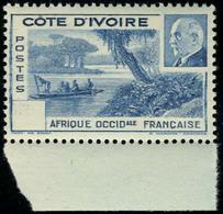 Neuf Sans Charnière N° 170a, Pétain Bleu Sans La Valeur, TB - Stamps