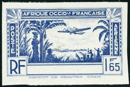 Neuf Sans Gomme N° 1a, Type PA De 1940, 1f65 Bleu, Valeur Non émise, Sans La Légende Côte D'Ivoire, Non Dentelé, T.B. - Stamps