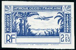 Neuf Sans Gomme N° 1b, Type Pa De 1940, 2f65 Bleu Valeur Non émise, Sans La Légende Côte D'Ivoire, Non Dentelé, T.B. - Stamps