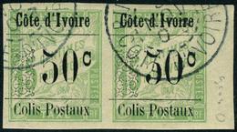 Oblitéré N° 5a, 50c S/15c Vert, Variété Gros 0 Tenant à Normal, TB - Stamps