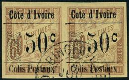 Oblitéré N° 6d, 50c S/60c Variété Sans Accent Sur Cote D'Ivoire, Tenant à Normal, TB - Stamps